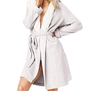 Victoria's Secret Cozy Hooded Lined Short Robe